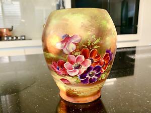 Royal Winton Grimwades Hand Painted Anemone Vase Signed B. Austin