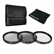 49mm UV CPL ND4 ND 4 Neutral Density Polarizer Lens Filter Kit For Nikon Canon
