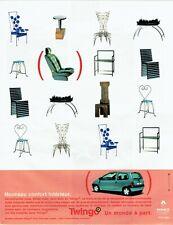 Publicité Advertising 129 1999  Renault   la Twingo 2  confort interieur