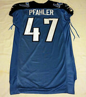 #47 Steve Pfahler of Tennessee Titans NFL Locker Room Game Issued Jersey