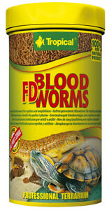TROPICAL FD BLOOD WORMS 100ml Freeze-dried larvae for reptiles