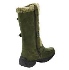 NEW Women's Winter Low Flat Heel Zipper Buckle Strap Mid-Calf Boots Size 6 - 10