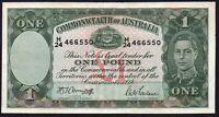 1942 Australia £1 Pound Banknote * H/24 466550 * VF * P-26b *