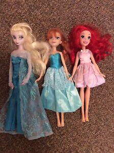 Disney Dolls - Frozen And The Little Mermaid