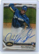 2012 TOPPS FINEST #AR-WP WILY PERALTA AUTOGRAPH XFRACTOR RC SP #244/299, BREWERS