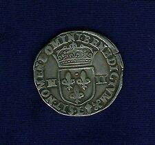 "FRANCE  HENRY IV  1601  ""1/4 ECU""  SILVER COIN, VF/XF"