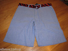 Men's Tommy Hilfiger shorts 34 NWT 7833826 Blue Water 491 belt casual TH RARE
