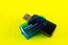 LECTOR DE TARJETAS PORTATIL USB MICRO USB MMC MICRO SD M2 TF SD HC STICK PRO DUO