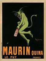 VINTAGE WINE BAR PRINT - Maurin Quina, 1920 by Leonetto Cappiello Poster 23x31
