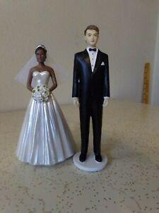 Wedding Cake Resin INTER RACIAL Bride and Groom