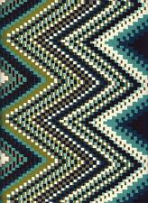 Poliéster Zig Zag Verde Vestido Impreso material de tela artesanal
