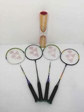 New listing 4 Yonex Badminton Rackets And Tube Of Birdies