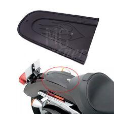 Black Flame Leather Plain Rear Fender Bib F Harley Sportster XL Solo Seat 04-16