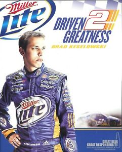 2012 Brad Keselowski Miller Lite Dodge Charger NASCAR postcard