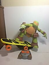 Teenage Mutant Ninja Turtle Skateboard Riding Michelangelo Mikey Remote Works
