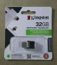 Kingston 32GB DataTraveler microDuo DTDUO3 USB 3.0 OTG Flash Drive DTDUO3/32GB