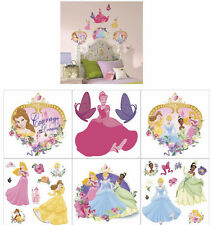 Disney ~ Princesses Cinderella, Belle, Aurora & Tiana ~ Wall Stickers ~ NIP