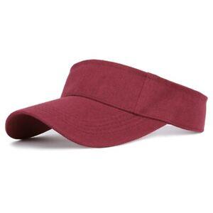 Cotton Visor UV Protection Top Empty Tennis Golf Running Sunscreen Sports Hat