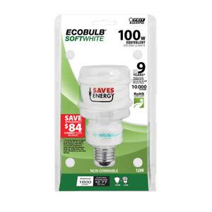 Feit Electric 100W (23W) Ecobulb 1600 Lumens Twist CFL Soft White 2700K Light Bu