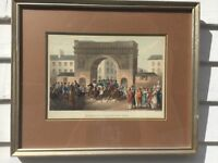 """1818 Engraving """"Entrance Of The Allies Into Paris"""" Published by Edward Orange"""