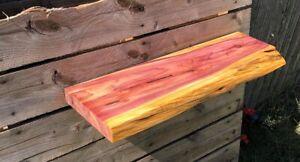 Live Edge Cedar Floating Shelf Multiple Sizes Available Rustic Red Cedar Shelf