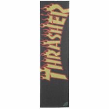 "Thrasher Men's Mob Grip 9"" Thrasher Yellow And Orange Flame Logo Grip Tape Bl..."