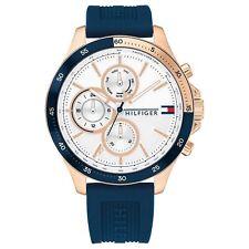 Tommy Hilfiger 1791778 reloj de pulsera de silicona azul del banco de hombres