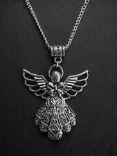 XL Engel Kette mit großem Engel Schutzengel Flügel Geschenk Weihnachten NEU