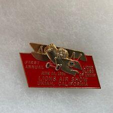 Ukiah California 1st Annual Air Show Lions Club Pin
