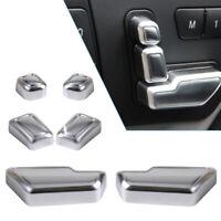 Chrome Car Door Seat Button Switch Trims Set For Mercedes-Benz W166 W246 W204