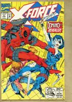 X-Force #11-1992 vf+ 8.5 1st full app the real Domino Neena Thurman / Deadpool