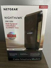 NETGEAR Nighthawk 32 x 8 DOCSIS 3.1 Voice Cable Modem - Black (Open Box)