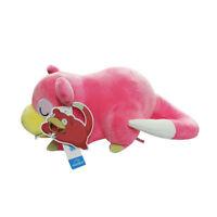 "14.5"" 37Cm Official Pokemon Sleeping Slowpoke Plush Toys Soft Stuffed Pig Doll"