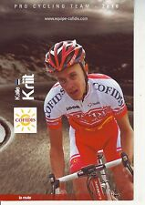 CYCLISME carte cycliste KALLE KRIIT équipe COFIDIS 2010