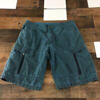 Kuhl Shorts Vintage Patina Dye Blue Hiking Outdoors Men's Sz 36x11 Blue