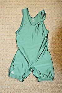 Adidas Wrestling Singlet Adult medium M Jersey tournament Gear Practice green