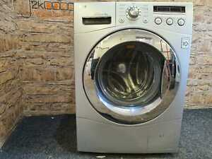 Silver LG Direct Drive 8kg 1400 Spin Washing Machine
