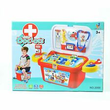 22pcs Kids Medical Role Play Pretend Doctor Nurses Toy Set with Wheels Role Case