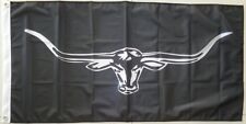Black Longhorns Flag Australian Cowboy Ute Muster Rodeo Flag