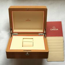 OMEGA New!! Auth Watch Box Wood Dark Red Wooden Genuine Display Presentation