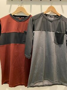 Dakine Vectra 3/4 Sleeve Trail MTB Jersey Mens Medium, Two Jersey Included