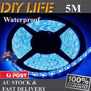 Waterproof 5M 12V Blue  5050 SMD 300 LED Strips Led Strip Lights car boat
