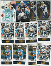 PHILIP RIVERS LOT (43) W INSERTS FLAIR SHOWCASE WAVE OF FUTURE RC BOWMAN CHROME