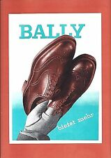 Original vintage poster print BALLY SWISS MENS SHOES c.1940