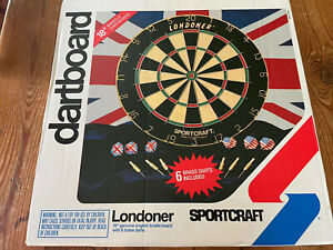 New And Sealed Vintage Sportcraft Contender Dart Board England The Londoner