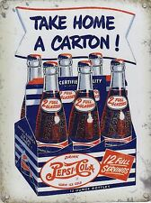 New 30x40cm Pepsi Cola take home a carton reproduction metal advertising sign