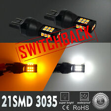 Color Switching Changing LED 7443 Turn Signal Light Bulb,Switchback,Flashback