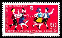 828 postfrisch DDR Briefmarke Stamp East Germany GDR Year Jahrgang 1961