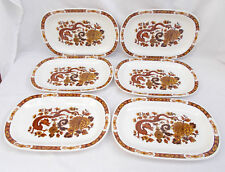 Franciscan Dynasty Collection Dragon Of Kowloon Oval Plates x 6 - Myott Meakin