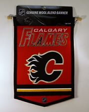 Calgary Flames Nhl Embroidered Wool Traditions 12x18 Mini Banner Flag